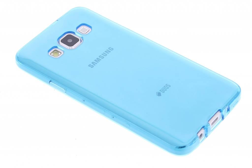 Turquoise transparante gel case voor de Samsung Galaxy A3