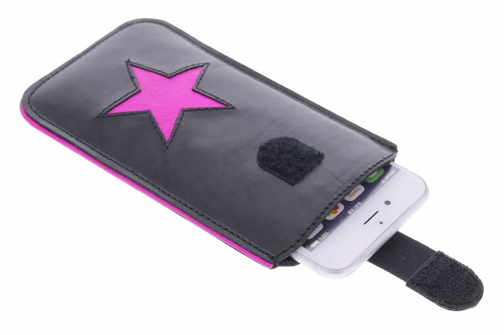 Fab. Pink Fluor Reversed Star - Size XL
