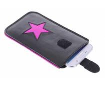 Fab. Pink Fluor Reversed Star - Size XXL