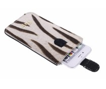 Fab. Zebra Cream Cover - Size XL