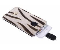 Fab. Zebra Cream Cover - Size XL