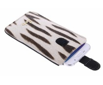 Fab. Zebra Cream Cover - Size XXL