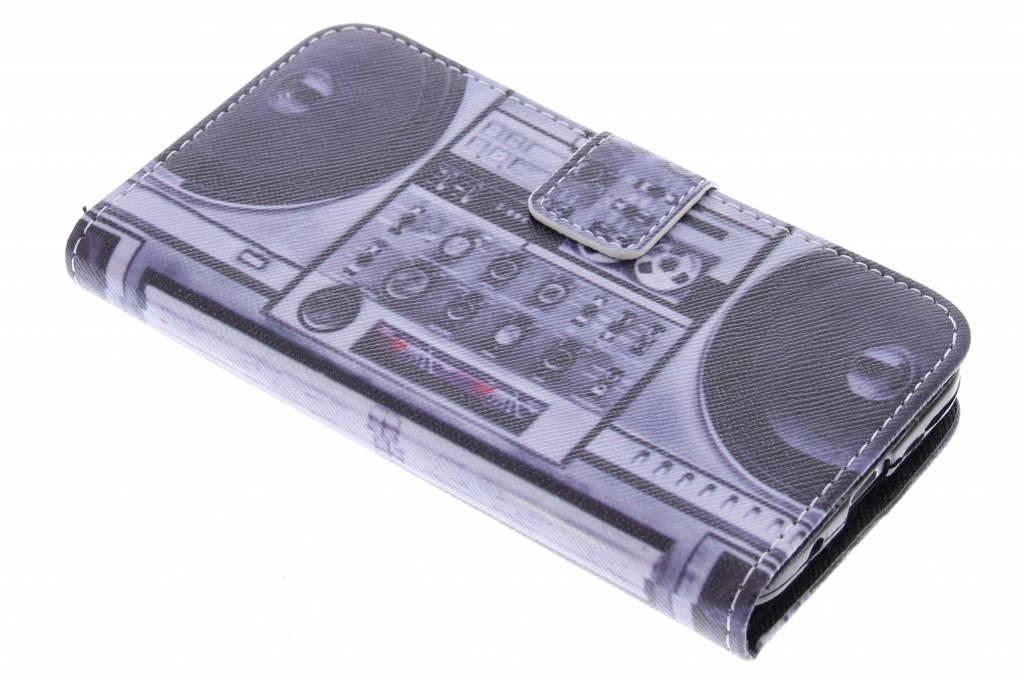 Radio design TPU booktype hoes voor de Samsung Galaxy Core Prime