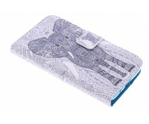 Design TPU booktype hoes Samsung Galaxy Core Prime