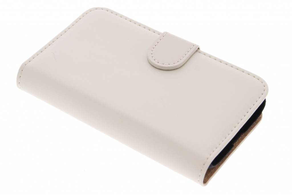 Selencia Luxe Book Case voor de Samsung Galaxy Trend 2 (Lite) - Gebroken wit