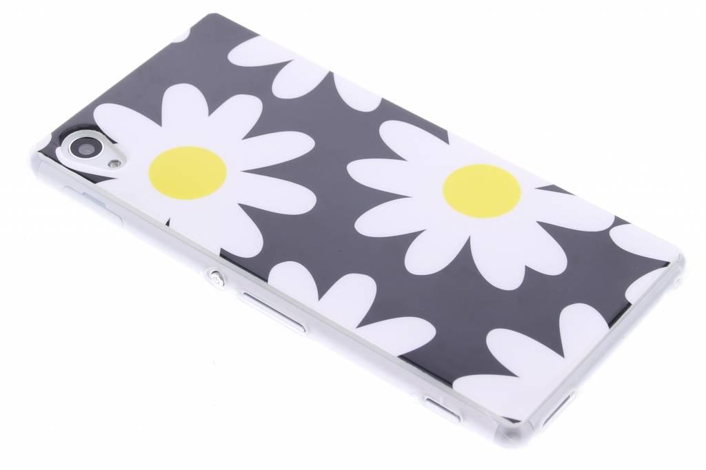 Bloemen design TPU siliconen hoesje voor de Sony Xperia M4 Aqua