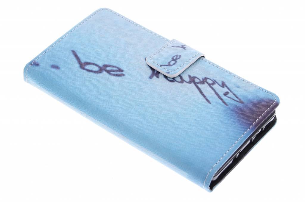 Be happy design TPU booktype hoes voor de Samsung Galaxy A5