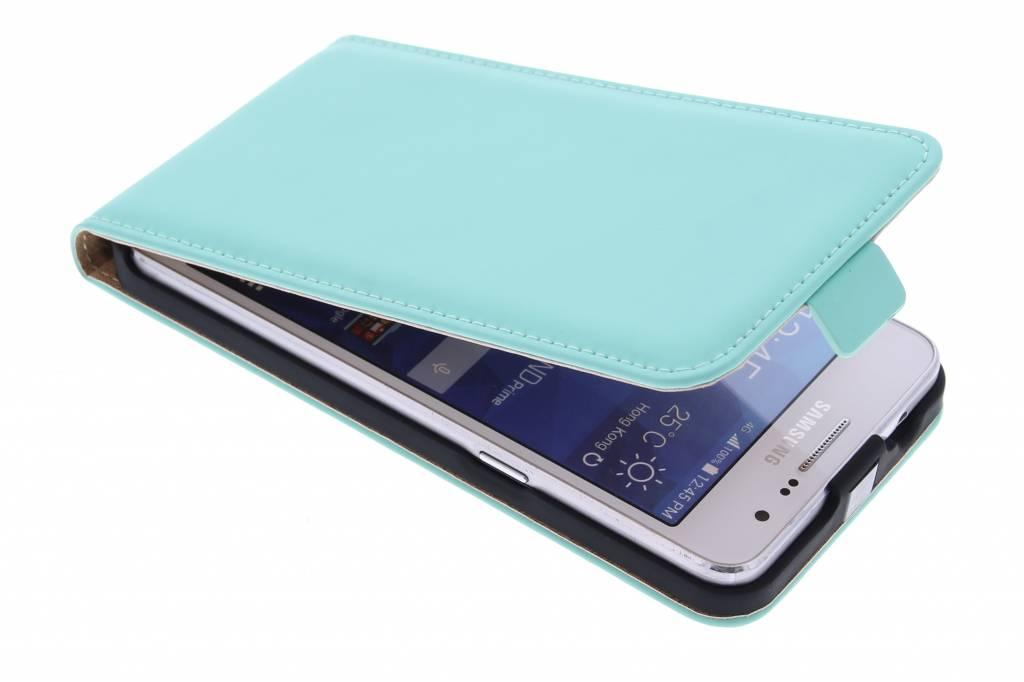 Selencia Luxe Flipcase voor de Samsung Galaxy Grand Prime - Mintgroen