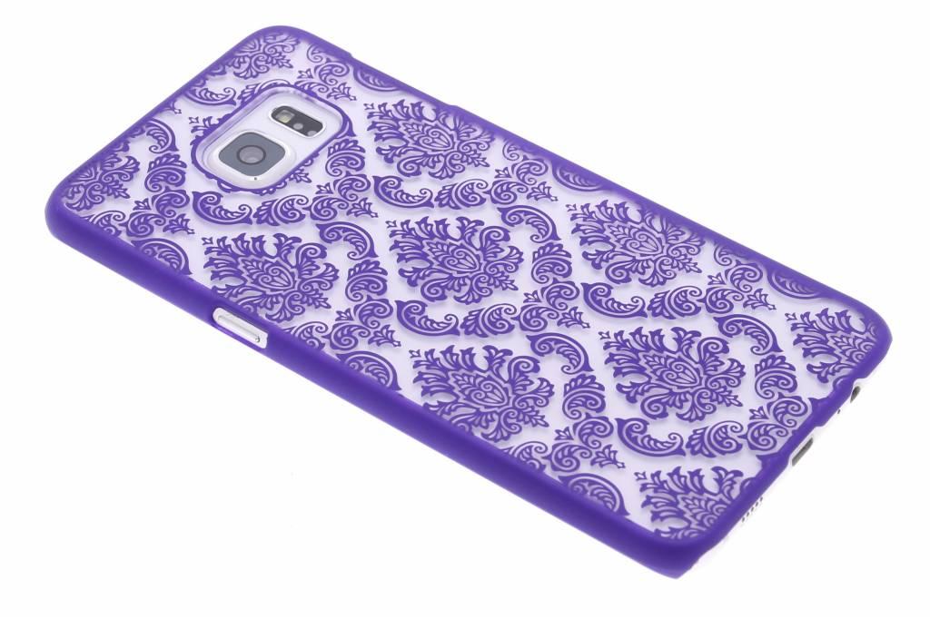 Paars barok mat hardcase hoesje voor de Samsung Galaxy S6 Edge Plus