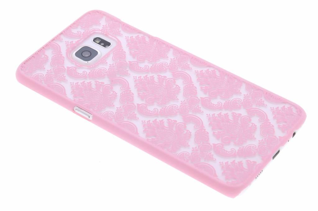 Roze barok mat hardcase hoesje voor de Samsung Galaxy S6 Edge Plus