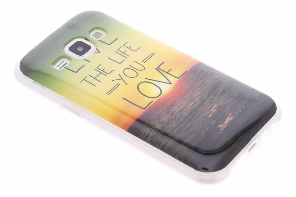 Live the life design TPU siliconen hoesje voor de Samsung Galaxy J1