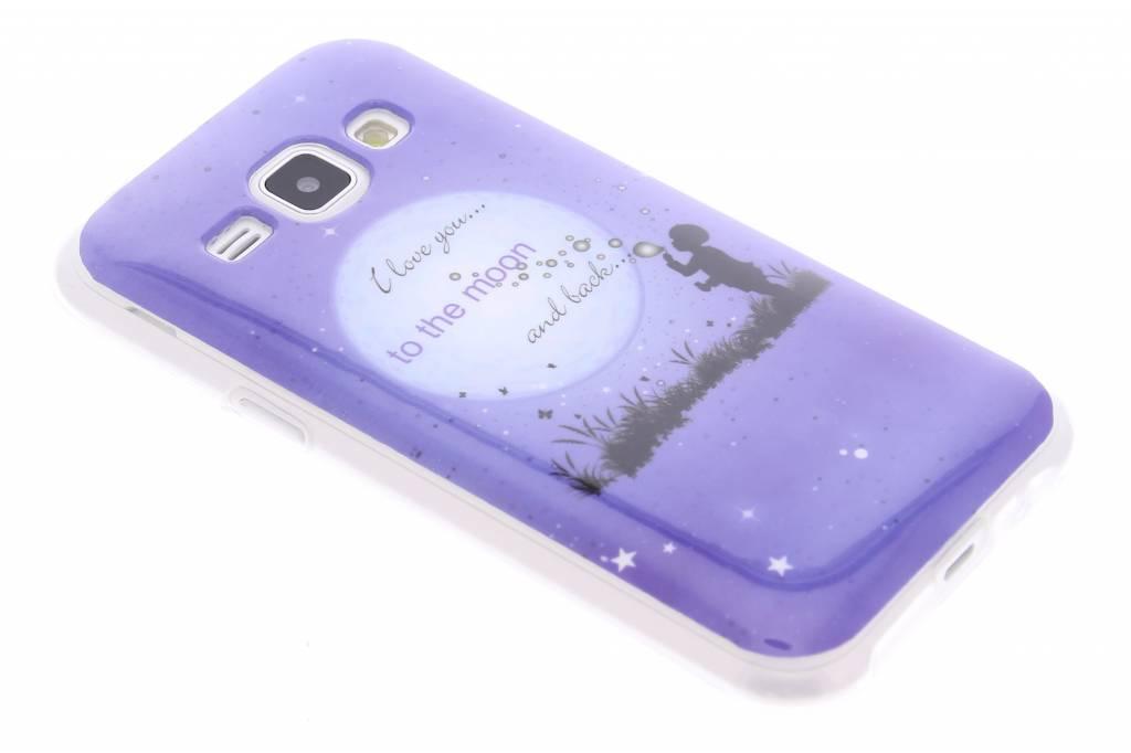Moon design TPU siliconen hoesje voor de Samsung Galaxy J1