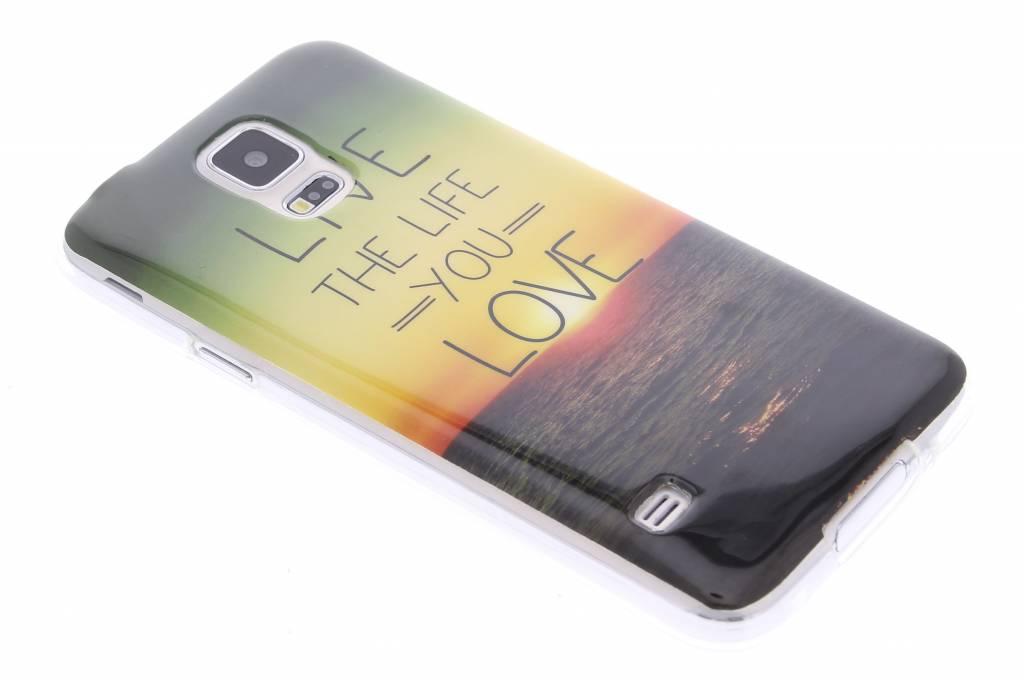 Live the life design TPU siliconen hoesje voor de Samsung Galaxy S5 (Plus) / Neo
