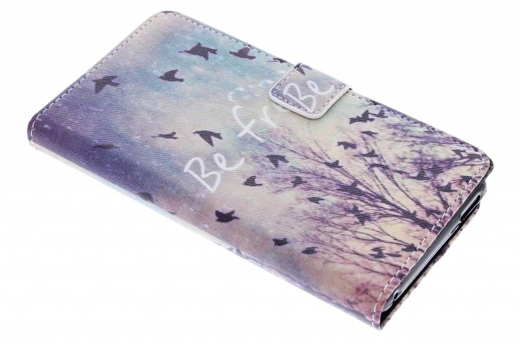Be free design TPU booktype hoes voor de Sony Xperia M4 Aqua