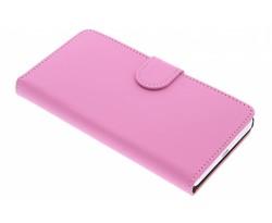 Roze effen booktype hoes Honor 7