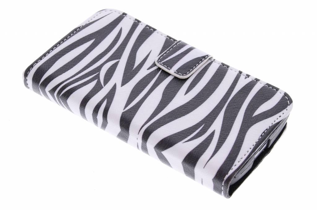 Zebra design TPU booktype hoes voor de LG Leon