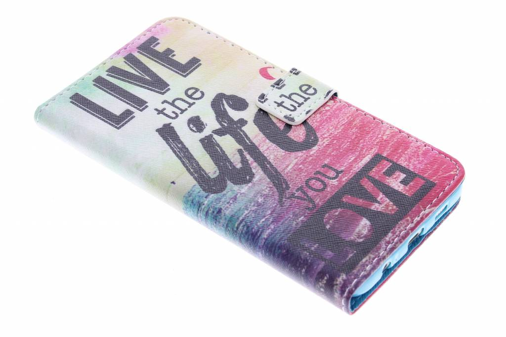 Life the life design TPU booktype hoes voor de Samsung Galaxy S6 Edge Plus