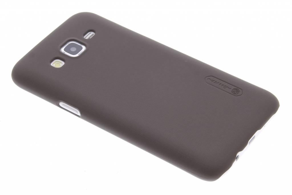 Frosted Shield hardcase hoesje voor de Samsung Galaxy J5 - Donkerbruin