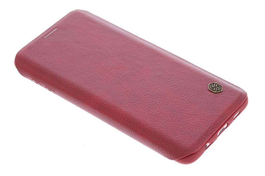 Nillkin Qin Leather slim booktype hoes voor de Samsung Galaxy S6 Edge Plus - Rood