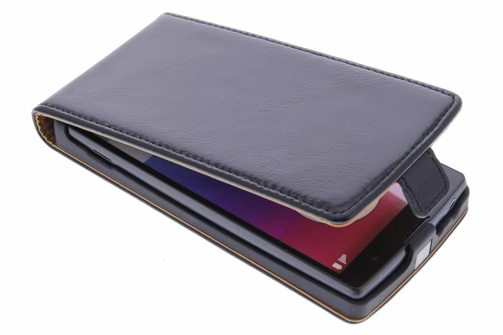 Selencia Luxe lederen Flipcase voor de LG Magna / G4c - Zwart