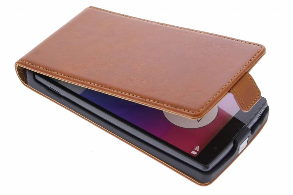 Selencia Luxe lederen Flipcase voor de LG Magna / G4c - Bruin