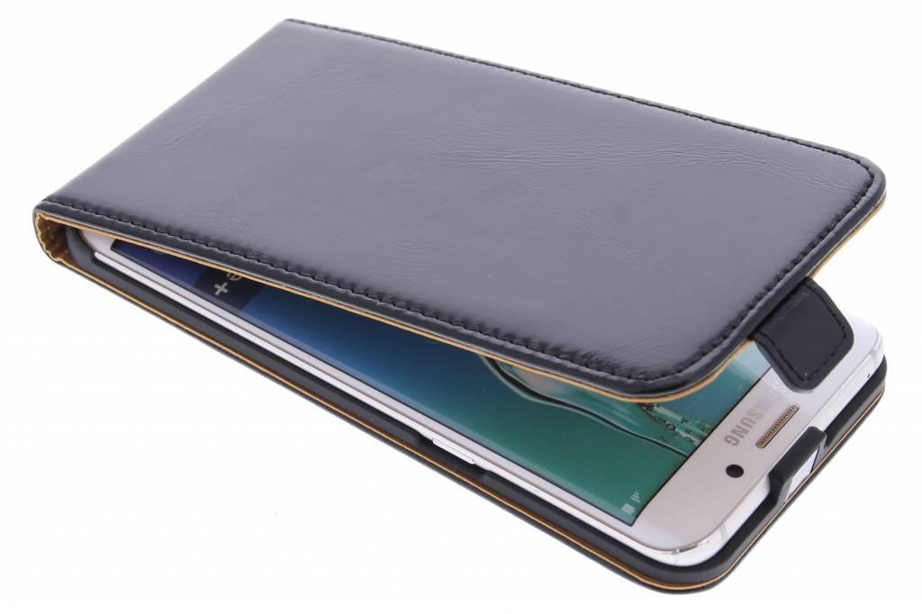 Selencia Luxe lederen Flipcase voor de Samsung Galaxy S6 Edge Plus - Zwart
