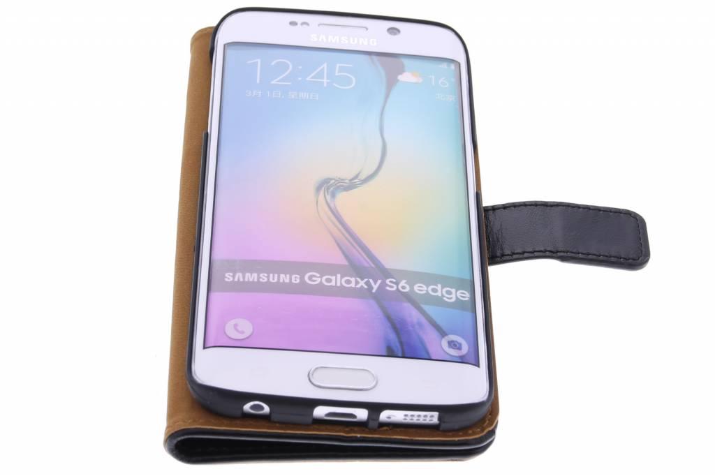 Cuir Luxe Noir Boîtier De Type Livre Bord De Samsung Galaxy S FwmK4