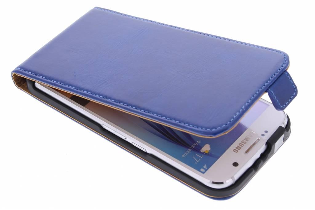 Luxe lederen Flipcase voor de Samsung Galaxy S6 - Blauw