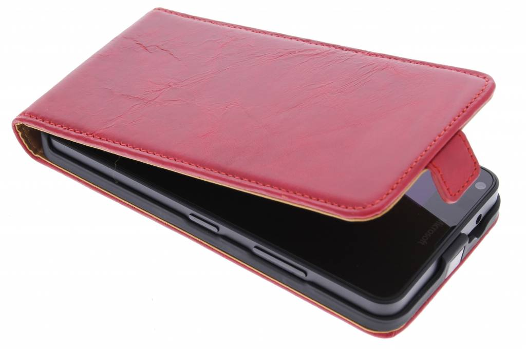 Selencia Luxe lederen Flipcase voor de Microsoft Lumia 640 - Rood