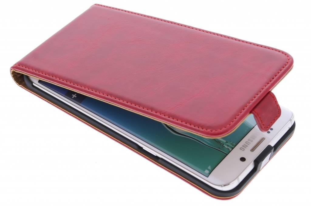 Selencia Luxe lederen Flipcase voor de Samsung Galaxy S6 Edge Plus - Rood