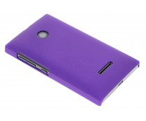 Paars effen hardcase hoesje Microsoft Lumia 532