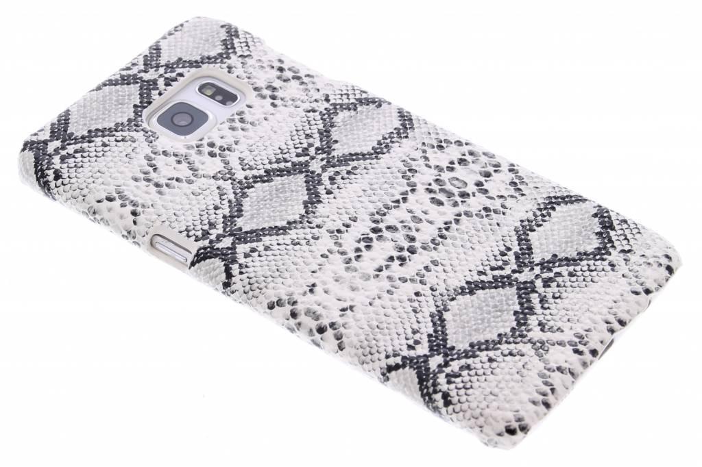 Wit slangen design hardcase hoesje voor de Samsung Galaxy S6 Edge Plus