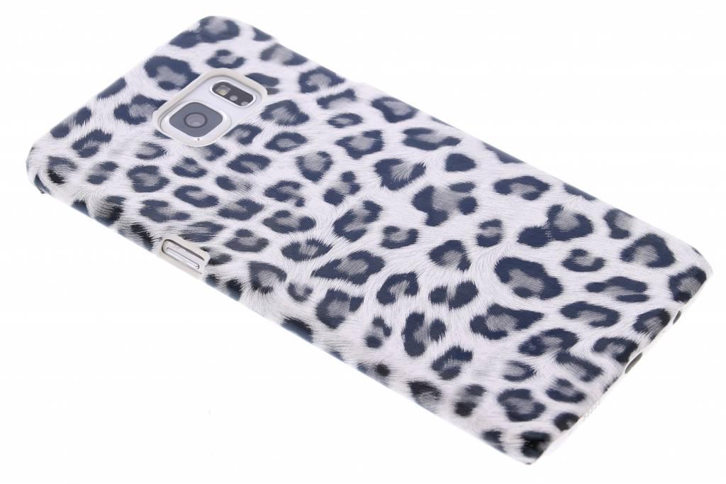 Grijs luipaard design hardcase hoesje voor de Samsung Galaxy S6 Edge Plus