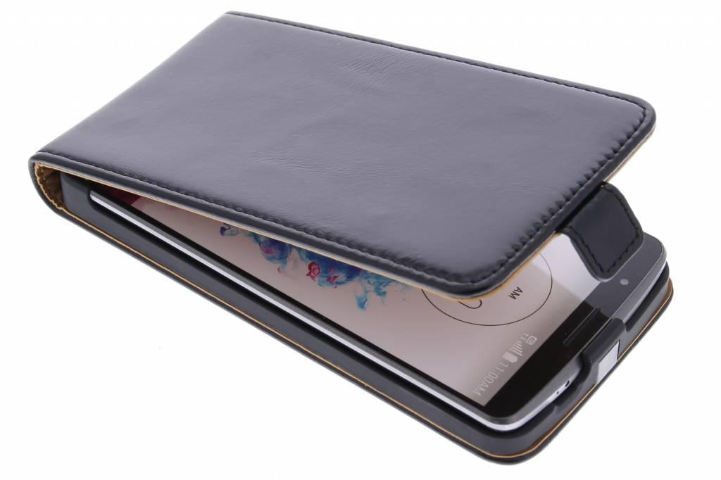 Selencia Luxe lederen Flipcase voor de LG G3 - Zwart