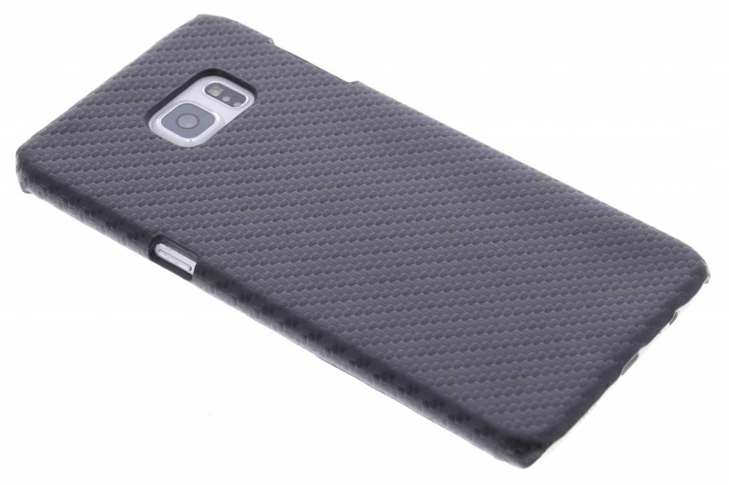 Zwart carbon look hardcase hoesje voor de Samsung Galaxy S6 Edge Plus