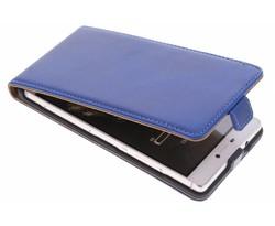Selencia Luxe lederen Flipcase Huawei P8 - Blauw