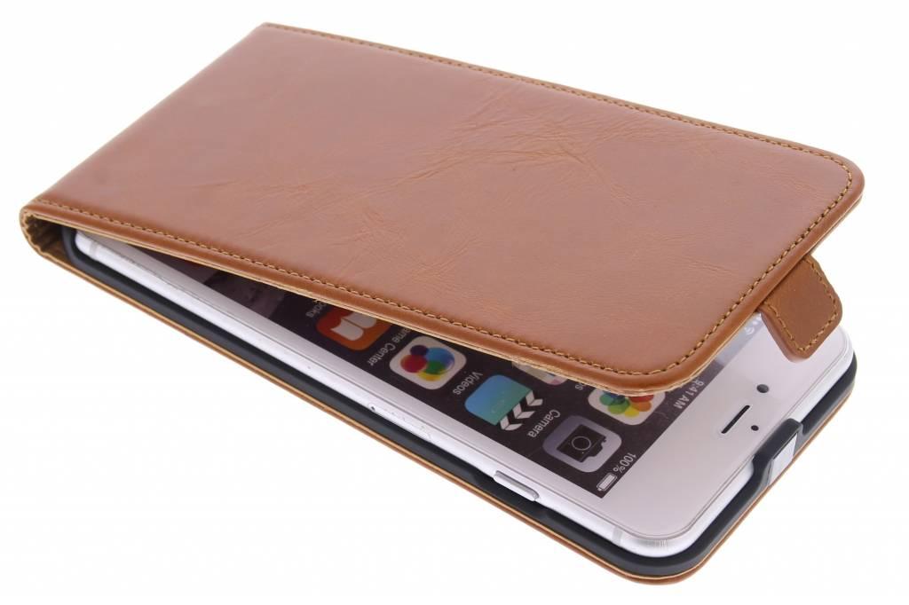 Selencia Luxe lederen Flipcase voor de iPhone 6(s) Plus - Bruin