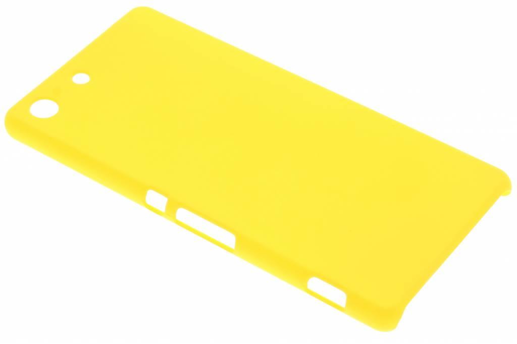 Geel effen hardcase hoesje voor de Sony Xperia M5