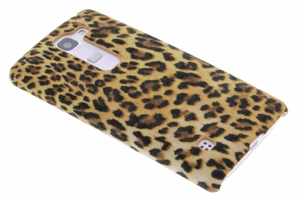 Luipaard flock design hardcase hoesje voor de LG Spirit