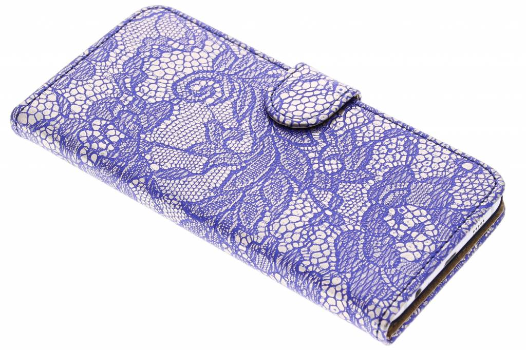 Blauwe glamour booktype hoes voor de Samsung Galaxy S6 Edge Plus