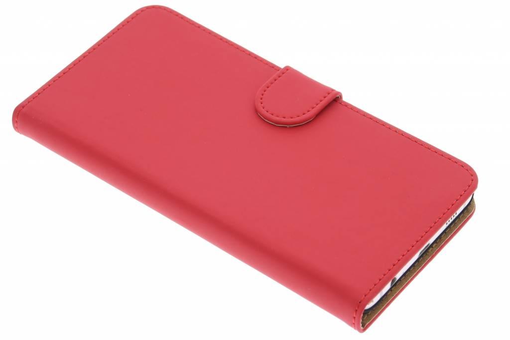 Rode effen booktype hoes voor de Samsung Galaxy S6 Edge Plus