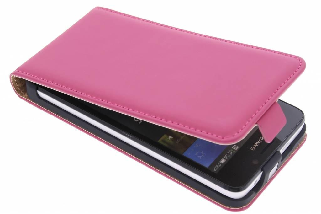 Selencia Luxe Flipcase voor de Huawei Y635 - Fuchsia