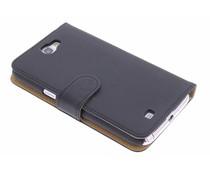 Zwart effen booktype hoes Samsung Galaxy Note 2