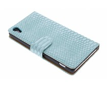 Turquoise slangen booktype hoes Sony Xperia Z2