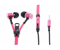 Muvit MuZip Headset met rits - Roze