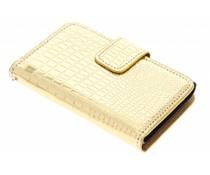 Metallic krokodil booktype hoes LG Optimus L3