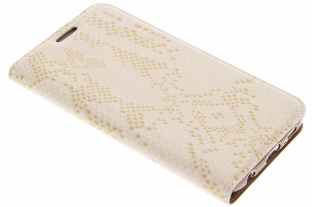 Gouden luxe slangen TPU booktype voor de Samsung Galaxy S6