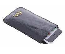 Fab. Zwart Shiney Croco cover iPhone 5 / 5s / SE