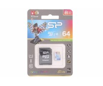 Silicon Power Elite 64GB geheugenkaart + SD adapter