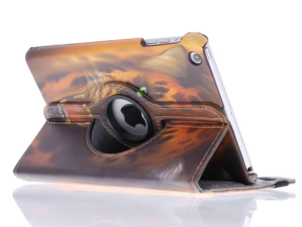 360º draaibare tijger design tablethoes voor de iPad Mini / 2 / 3